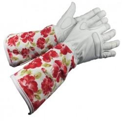 Dámské kožené rukavice dlouhé červené