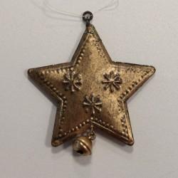 Vánoční ozdoba kovová - hvězda