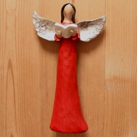 Anděl červený  s knihou