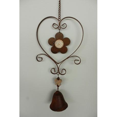 Závěsná dekorace se zvonkem - kytka