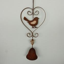 Závěsná dekorace se zvonkem - ptáček