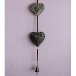 Dekorace dvě srdce