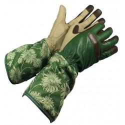 Dámské kožené rukavice dlouhé zelené