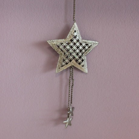 Vánoční ozdoba stříbrná - hvězda