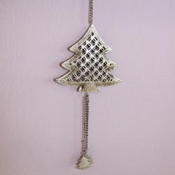 Vánoční ozdoba stříbrná - stromeček
