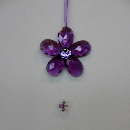 Girlanda fialová - kytka