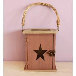 Dřevěná lucerna - hvězda