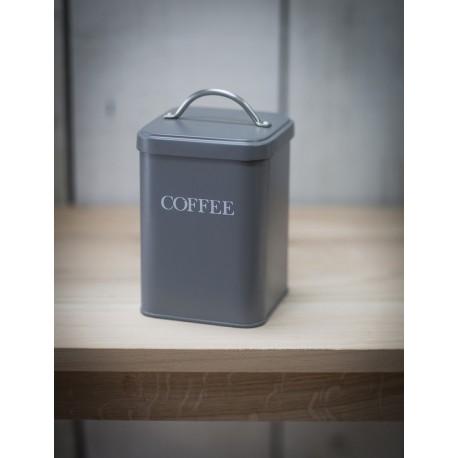 Dóza na kávu - tmavě šedá