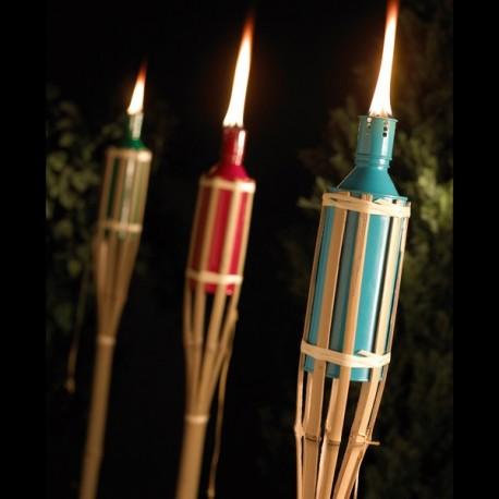 Bambusová louč barevná (150 cm)