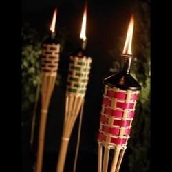 Bambusová louč proplétaná barevná (150 cm)