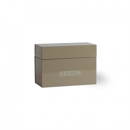 Plechová krabička na semínka