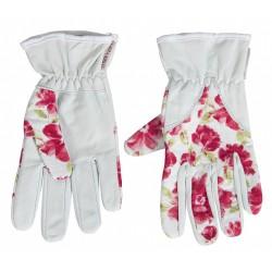 Dámské kožené rukavice s květinovým vzorem