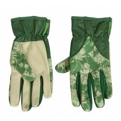 Dámské kožené rukavice zelené