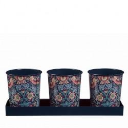 Kovové kvetináče na bylinky William Morris