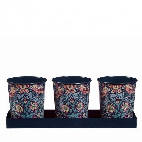 Kovové květináče na bylinky William Morris