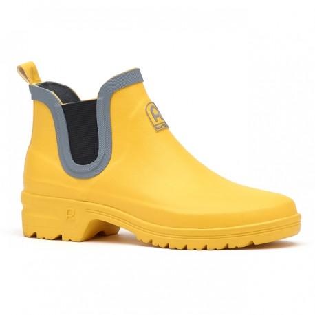 Dámské nízké gumáky - žluté