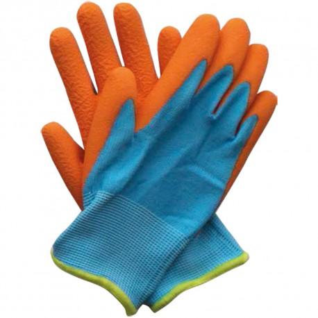 Dětské pracovní rukavice modro-oranžové