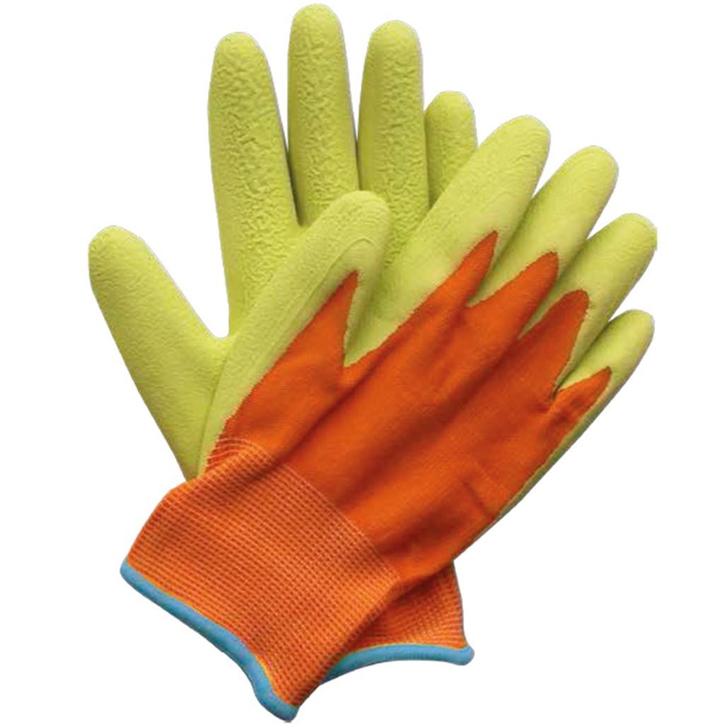 6101755e852 Dětské pracovní rukavice oranžovo-zelené - LUKAGARDEN