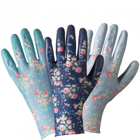 Dámské květované rukavice - nitril