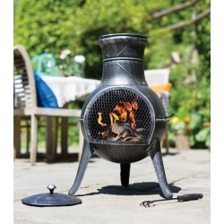 Ocelové ohniště s cínovým povrchem