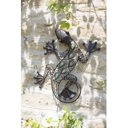 Dekorace na zahradní zeď/plot - ještěrka