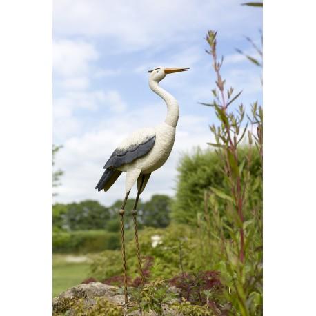 Dekorace do zahrady - volavka bílá