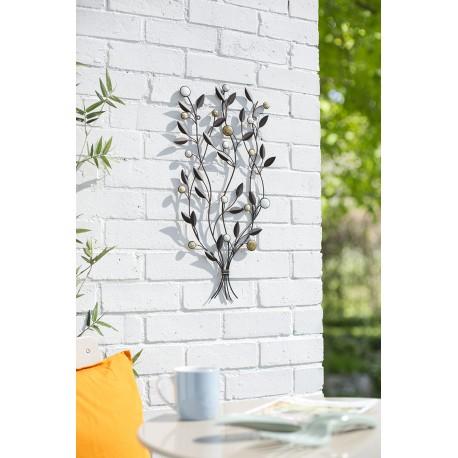 Dekorace na zahradní zeď/plot - listy