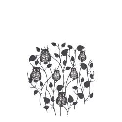 Dekorace na zahradní zeď/plot - sovy