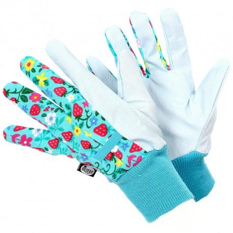 Zahradní rukavice s voděodpudivou úpravou - jahůdky