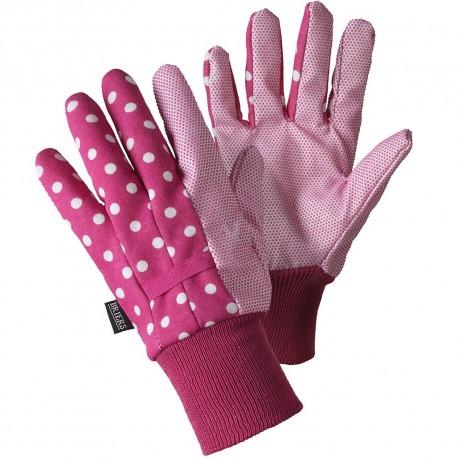 Zahradní rukavice s voděodpudivou úpravou - puntíky