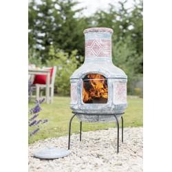Hliněné ohniště s grilem Geometric