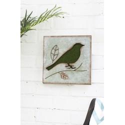 Dekorace na zahradní zeď/plot - pták