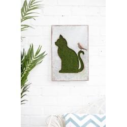 Dekorace na zahradní zeď/plot - kočka