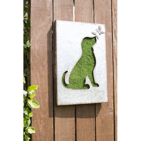 Dekorace na zahradní zeď/plot - pes
