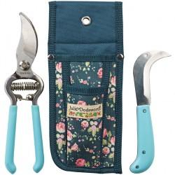 Zahradní sada s pouzdrem - nůžky a nůž (Julie D)