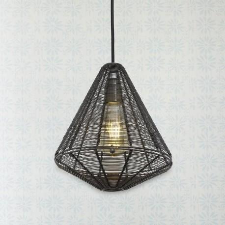 Závěsná lampa cínová Klec - kužel