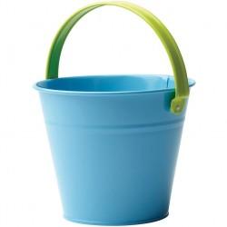 Dětský kovový kyblík - modrý