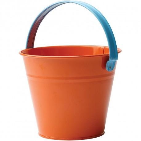 Dětský kovový kyblík - oranžový