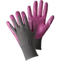 Dámské rukavice nitrilové - šedo-růžové