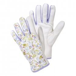 Dámské kožené rukavice (Julie D) - levandule