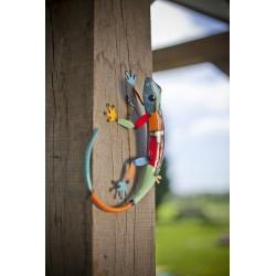 Dekorace na zahradní zeď/plot - ještěrka barevná