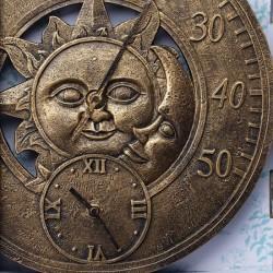 Venkovní hodiny s teploměrem