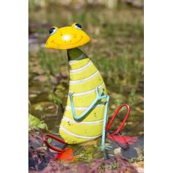 Dekorace do zahrady - žába pruhovaná