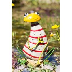 Dekorace do zahrady - žába pruhovaná malá