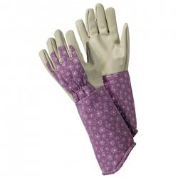 Dámské rukavice s květy česneku - prodloužené