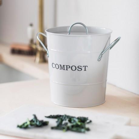 Kuchyňská nádoba na bioodpad - křídová