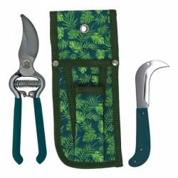 Zahradní sada s pouzdrem - nůžky a nůž (tropical)