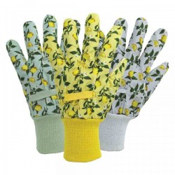 Pracovní rukavice bavlněné - lemon