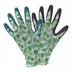 Pracovní rukavice nitrilové - tropical