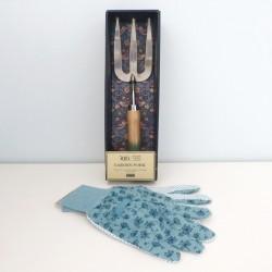 Sada rukavice a vidlička (modrá)